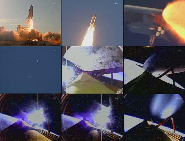 Składanka ze startu promu Discovery do misji STS-133 / Credits - NASA TV, kosmonauta.net