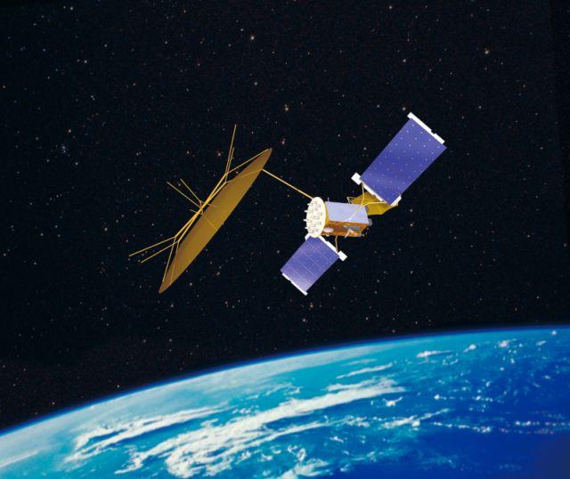 Satelita typu MUOS - wizualizacja / Credits: Lockheed Martin
