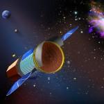 Wizja artystyczna sondy IXO / Credits - NASA, ESA