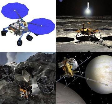 Wizualizacje niektórych misji analizowanych w raporcie Decadal Survey / Credits - NASA JPL, Corby Waste