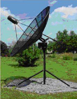 Antena małego radioteleskopu / Credits - UJ