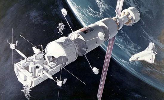 Wizja artystyczna pojazdu OTV na niskiej orbicie okołoziemskiej (NASA/Beyond Apollo Blog)