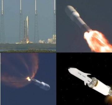 Etapy startu rakiety Atlas V z X-37B na pokładzie / Credits - United Launch Alliance
