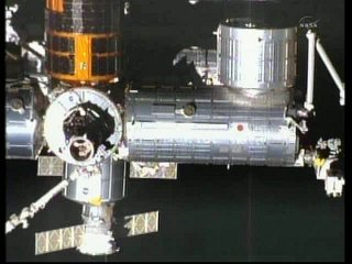 13:24 CET - widok na moduł Kibo, Harmony, PMM, HTV-2 i PMA-2 / Credits - NASA TV