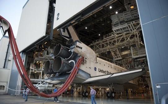 Początek procesu wycofywania Discovery, 9 czerwca / Credits: NASA TV
