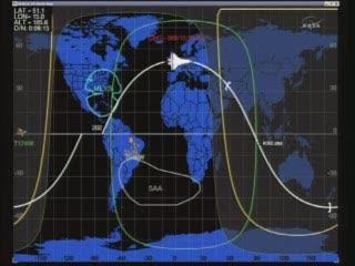 16:29 CET - pozycja promu Discovery na orbicie 202 / Credits - NASA TV