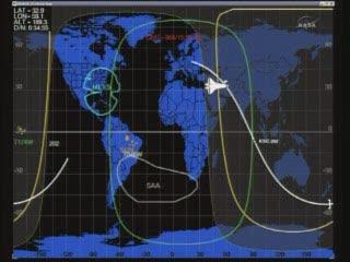 16:39 CET - Discovery nad Bliskim Wschodem / Credits - NASA TV