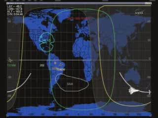 17:08 CET - Discovery na południe od Australii / Credits - NASA TV