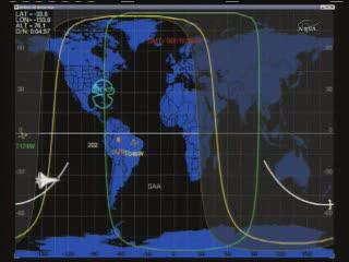 17:24 CET - Discovery nad południowym Pacyfikiem / Credits - NASA TV