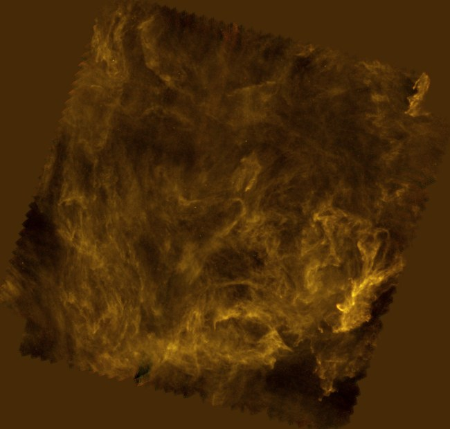 Sieć słupów gazowych Gwiazdy Polarnej (ESA)