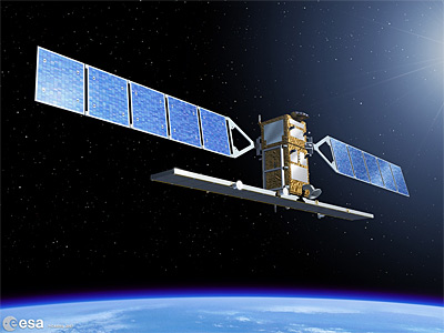 Sentinel-1 - wizualizacja / Credits: ESA