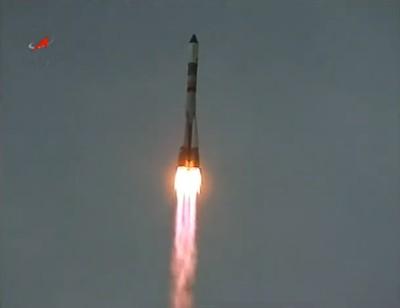 Pierwsza faza lotu rakiety Sojuz ze statkiem Progress 42P / Credits: Roscosmos