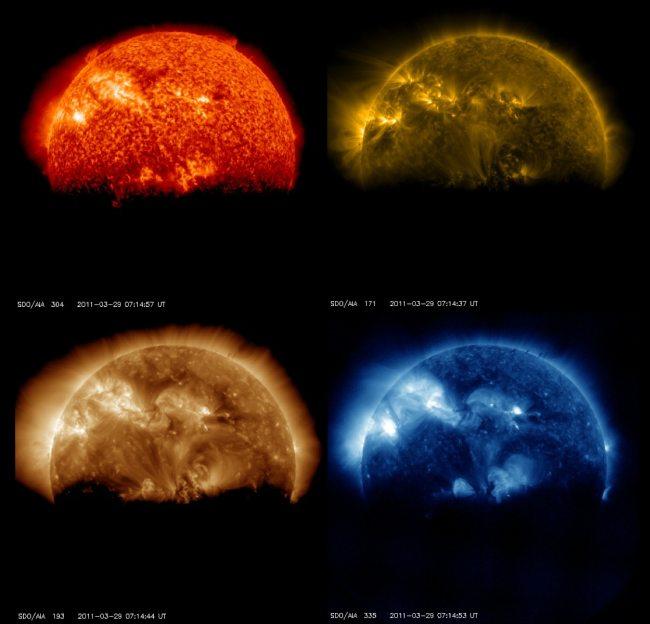 Zaćmienie Słońca oczami SDO / Credit – NASA