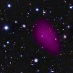 Złożenie zdjęć z XMM-Newtona w bliskiej podczerwieni oraz promieniach X / Credit - ESA/ESO/Subaru/R. Gobat et al.