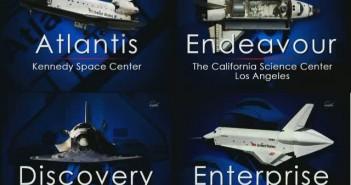 Muzea i placówki, do których zostaną przekazane promy kosmiczne / Credits - NASA TV
