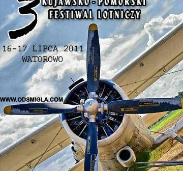 Plakat 3. Kujawsko-Pomorskiego Festiwalu Lotniczego