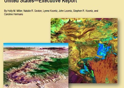 Okładka raportu z badania użytkowników danych z satelitów Landsat / Credits: DoI, USGS