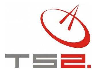 Logo firmy TS2 Technologie Satelitarne / Credits - TS2