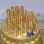 Zdjęcie przedstawia jeden z elementów instrumentu HFI satelity Planck, skonstruowany w QMC Instruments. (Credits: http://www.terahertz.co.uk/)