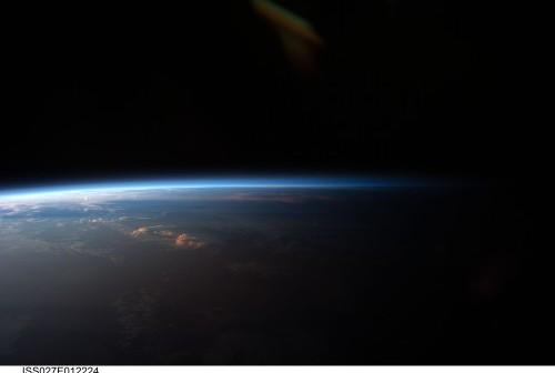Terminator nad Ameryką Południową / Credits: NASA