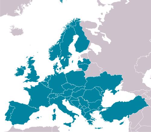 Kraje członkowskie Eurocontrol / Credits: Will, Kolija21 (WikiCommons)