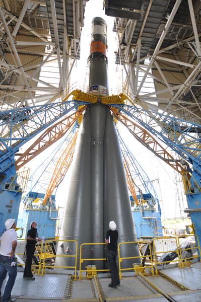 Statyczny 'suchy' test rakiety Sojuz w Gujanie Francuskiej / Credits: ESA