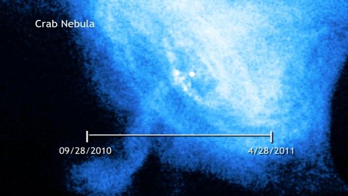 Zdjęcie regionu z obserwatorium Chandra. Nie udało się uchwycić wyraźnych zmian promieniowania gamma, które byłyby w sposób oczywisty skorelowane z rozbłyskiem / Credit – NASA/CXC/M. Weissskopf oraz A. Tennant