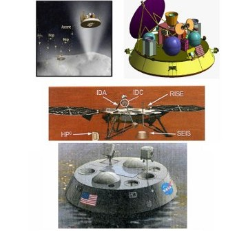 Grafika przedstawiająca koncepcje misji klasy Discovery w 2016 roku. / Credits - NASA, JPL, zespół Planetary Science