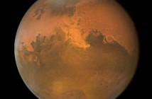 Obraz Marsa zarejestrowany przez Telekop Kosmiczny Hubble (NASA)