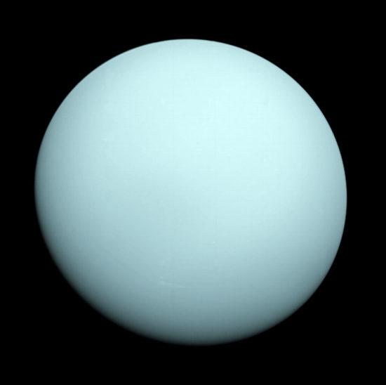 Uran, siódma planeta Układu Słonecznego, mógłby stać się celem misji sondy New Horizons II dzięki wystrzeleniu tego pojazdu na odpowiednią trajektorię (NASA)