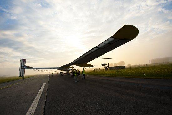 Lot z Payerne do Brukseli. Credit: Solar Impulse/Jean Revillard/Rezo.ch