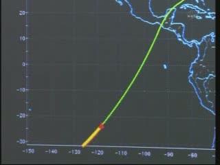 08:07 CEST - Endeavour wchodzi w atmosferę / Credits - NASA TV