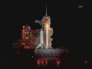 Godzina 06:13 CEST - podgląd na platformę startową / Credits - NASA TV