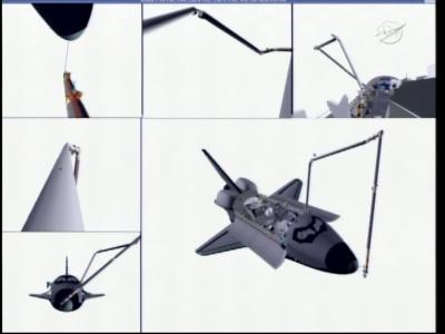 Skanowanie części nosowej promu Endeavour (NASA)