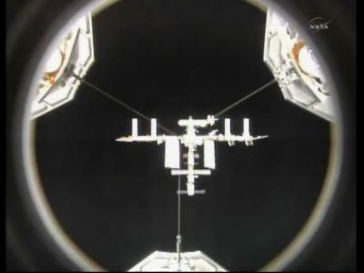 Stacja kosmiczna ISS widoczna z wahadłowca Endeavour (NASA)