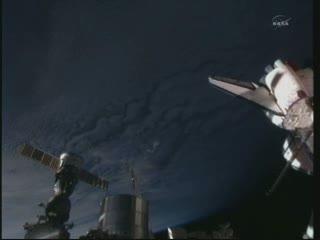 08:17 CEST - widok na Ziemię z pokładu ISS / Credits - NASA TV