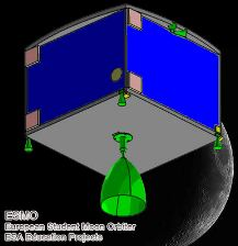 Sonda ESMO - ogólny kształt / Credits - ESA, ESMO, SKA