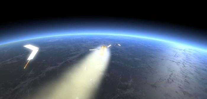 Artystyczne ujęcie destrukcji ATV 2 na skutek wejścia w atmosferę Ziemi / Credits: ESA, D.Ducros