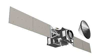 Sonda TGO ze statycznym lądownikiem marsjańskim / Credits - ESA