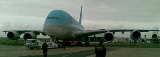 Airbus A380 tuż przed swoim pokazem / Credits - Kosmonauta.net