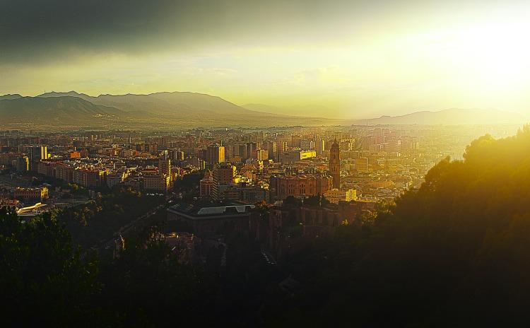 Malaga - widok z balkonu restauracji podcza przyjęcia pożegnalnego / Fot. Aleksander Kurek