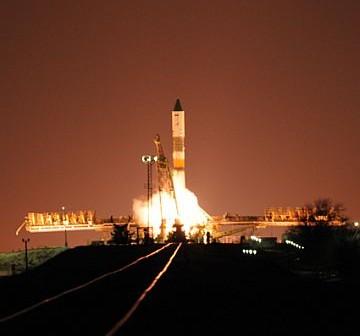 Rakieta Sojuz-U wraz ze statkiem Progress 41P / Credits: RKA