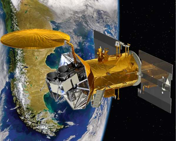 Wizja artystyczna satelity SAC-D / Credits: NASA