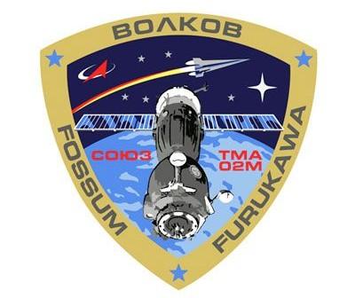 Logo misji Sojuz TMA-02M / Credits: RKA