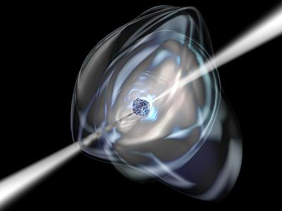 Wizualizacja pulsara rentgenowskiego / Credits: ESA