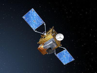 Satelita MGT z przyrządem Sentinel-4 / Credits: ESA & AOES Medialab