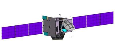 Wizualizacja satelity KazSat-2 / Credits: Zakłady Chruniczewa