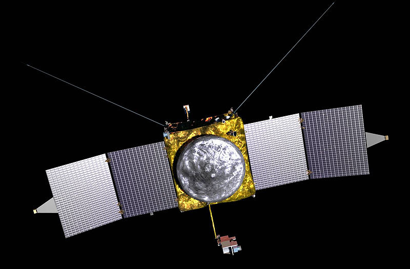 Sonda MAVEN - wizualizacja / Credits: NASA