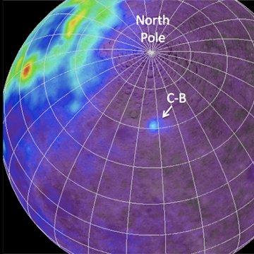 Anomalia torowa C-B. Kolorem zaznaczono występowanie toru. / Credits - NASA/GSFC/ASU/WUSTL