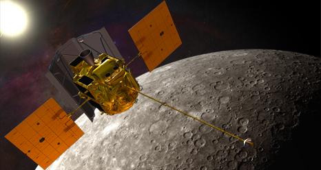 Sonda MESSENGER - wizualizacja / Credits: NASA